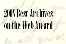 ArchivesNext 2008 Best Archives on the Web Award